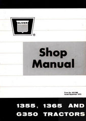 White Oliver Minneapolis Moline 1355 1365 G350 G-350 Tractor Shop Service Manual