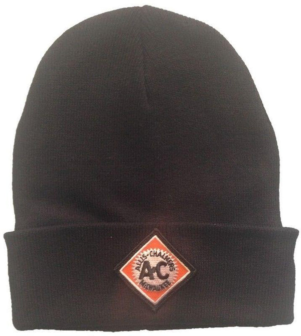 Allis Chalmers Tractor Vintage Logo Starburst New Black Knit Hat - Gift