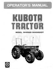 Kubota M4500 M4500DT DT Owners Operators Manual F-1832