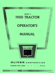 Oliver White Model 1900 Series C Tractor Operators Manual