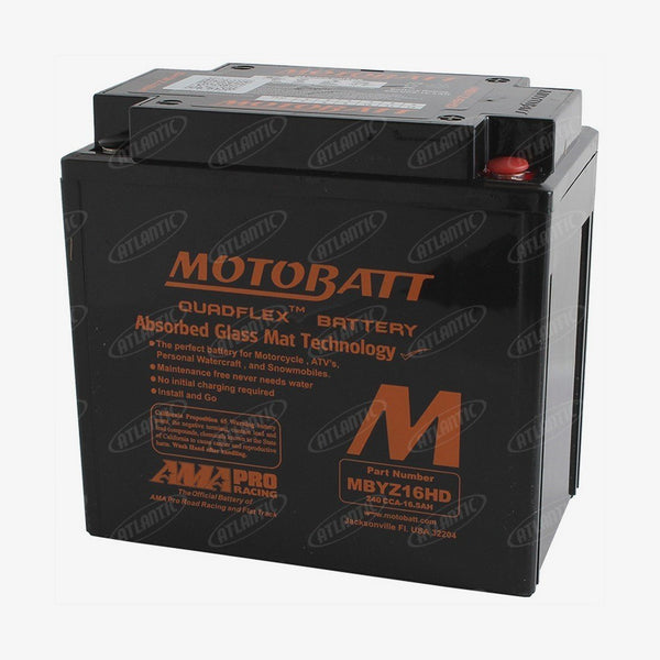 Motobatt Battery fits Various Makes Models Listed Below GYZ16H KMX14BS YTX14BS