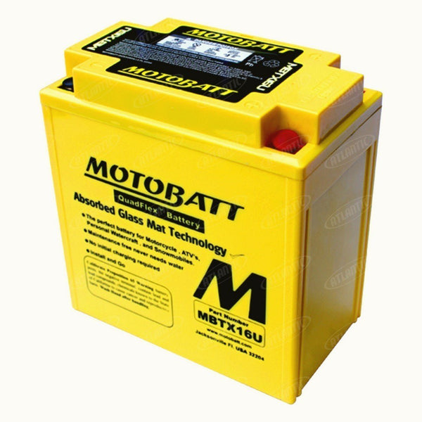 Motobatt Battery fits Various Makes Models Listed Below YTX16BS YTX16BS1