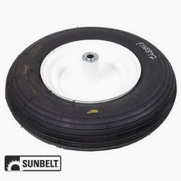 Wheel-Barrow, Rib, 4.80X400X8, Steel-White B1SB872