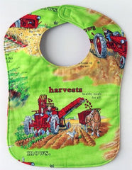 Lime Tractor Mac Farmall International Baby Bib