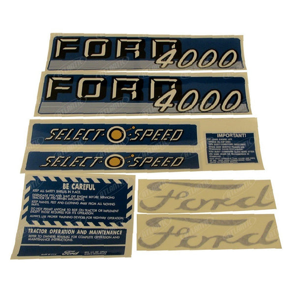 1115-1550, Decal Set4000 4 CYL 62-64