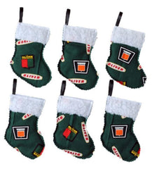 Oliver Mini Ornament Stockings Set of Six Holiday Christmas Gift