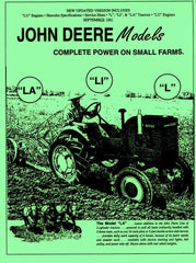 John Deere Model L LA LI LU Y 62 Shop Service Manual