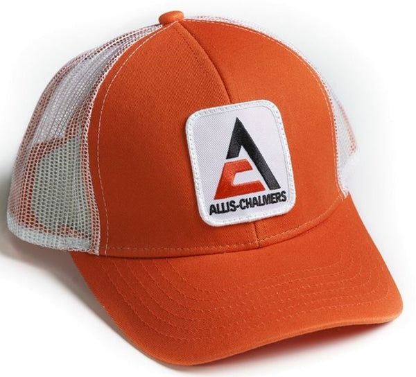 Orange with White Mesh Back New Logo Allis Chalmers Hat