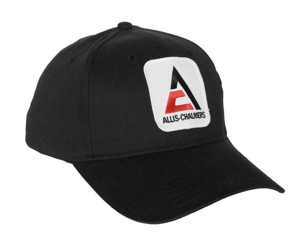 Solid Black Allis Chalmers Hat With New Logo Fits Youth