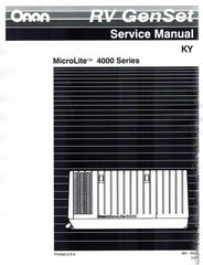 ONAN KY Series Service Shop Repair Manual 981-0503