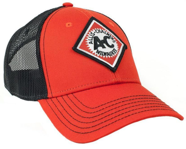 Orange With Black Mesh Vintage Logo Allis Chalmers Hat
