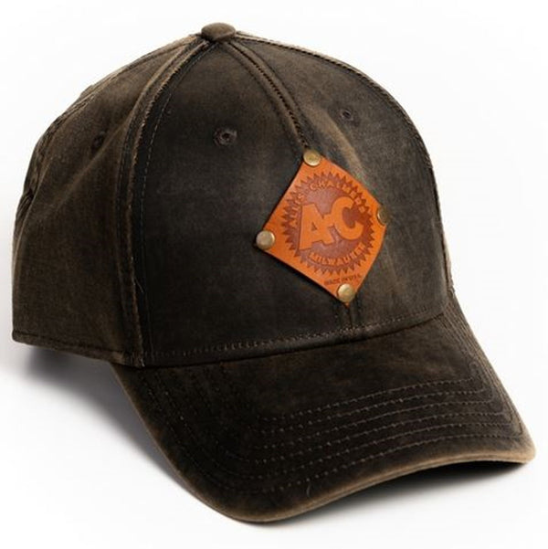 Oil Distressed Vintage Allis Chalmers Logo Hat with Faux Leather Emblem