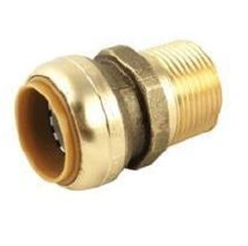 1 Inch Brass MPT to Push On Fitting HVAC