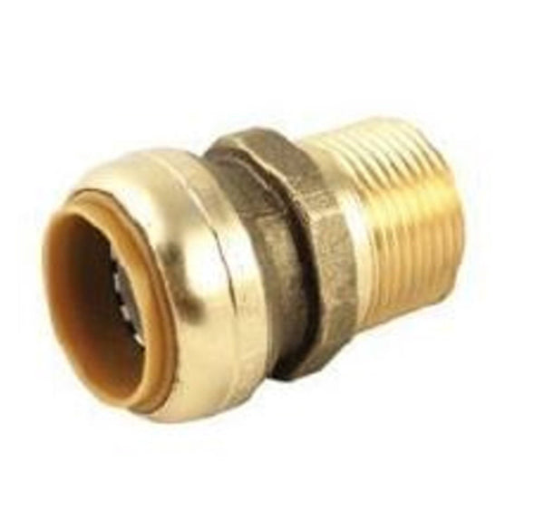 3/4 Inch Brass MPT to Push On Fitting HVAC