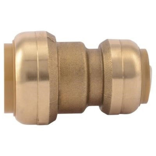 3/4x1 Inch Brass Push On Reducing Coupler HVAC
