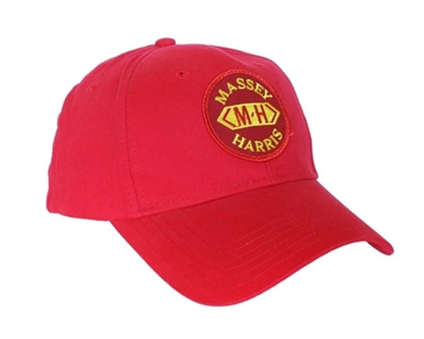 Massey Harris Tractor 6 Panel Red Hat - Cap Gift MH Fits Most