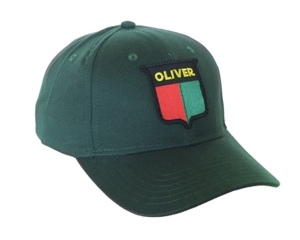 Oliver Vintage Logo Tractor 6 Panel Green Hat Cap Gift Fits Most