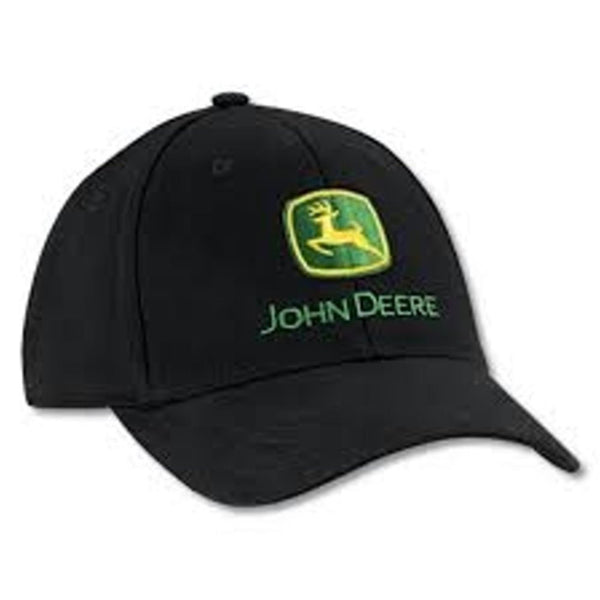 John Deere Black Embroidered Logo Hat Cap Gift