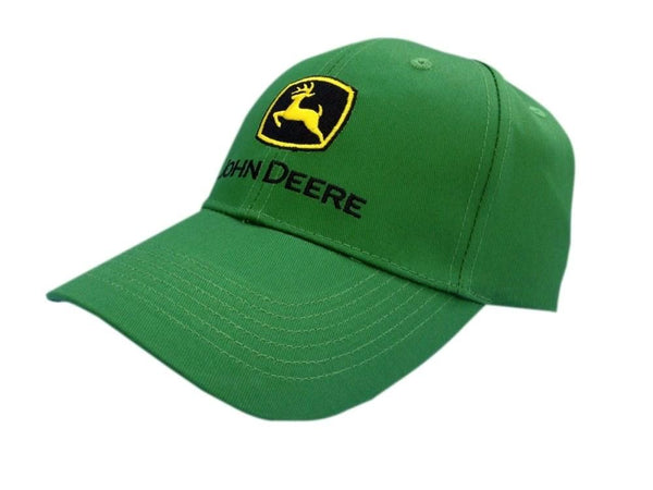 John Deere Solid Green Embroidered Logo Hat Cap Gift