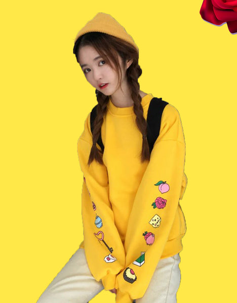 Kawaii Fruits Pullover Sweatshirt