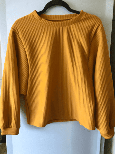 Ribbed Sunflower Bright Sweater