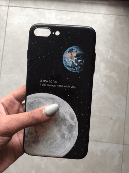 Romantic Earth and Moon Aesthetic Case