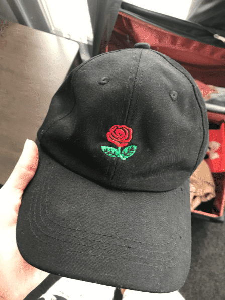 Rose Aesthetic Embroidered Cap