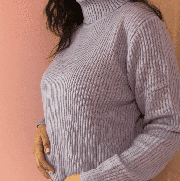 Solid Color Lavender Sweater