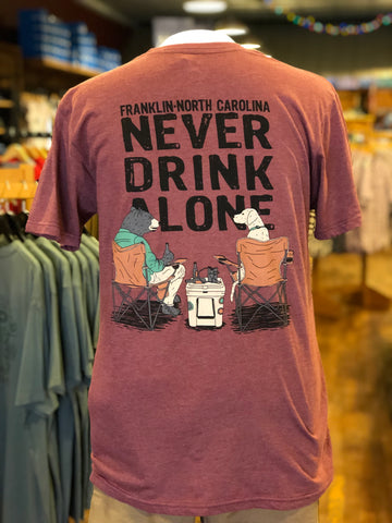 Never Drink Alone Bear Franklin S/S
