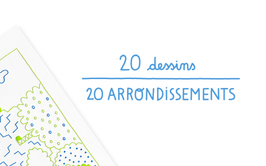 20 dessins/20 arrondissements — carnets Letterpress de Paris