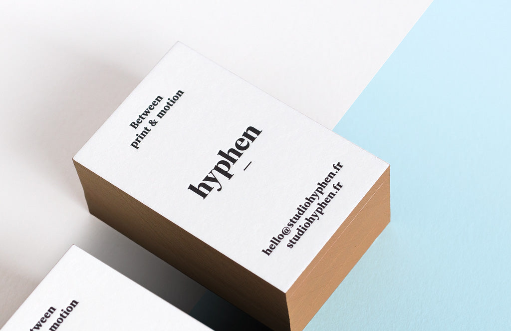 Carte de visite letterpress - design Studio Hyphen