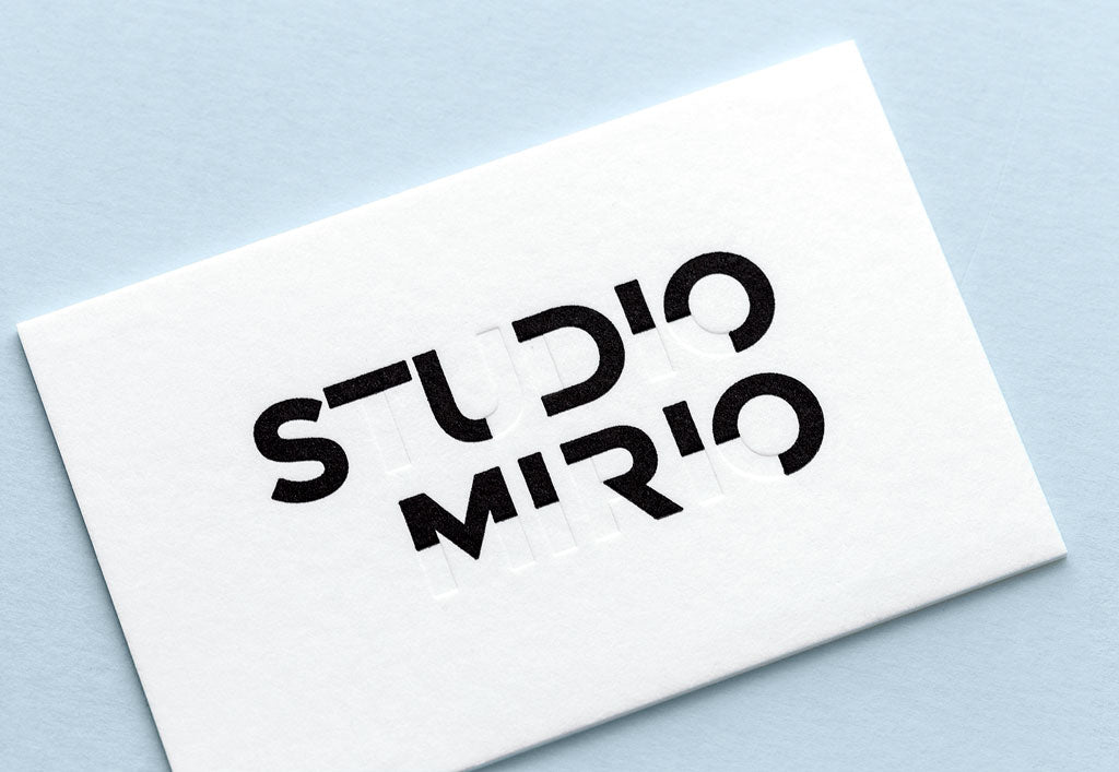 Carte de visite letterpress - design Studio Mirio - réalisation sur mesure Letterpress de Paris