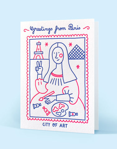 Carte double letterpress - Édition Letterpress de Paris - Illustration Steffie Brocoli