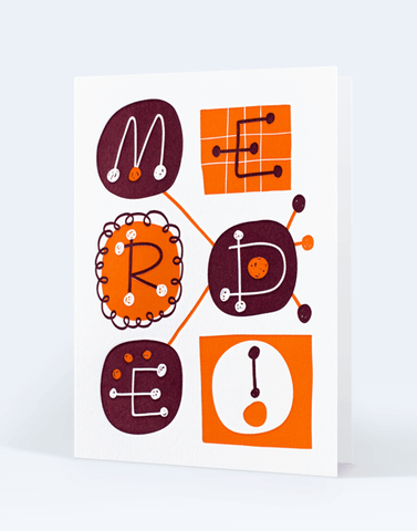 Carte Letterpress de Paris, illustration Mathieu Julien, impression letterpress 2 couleurs