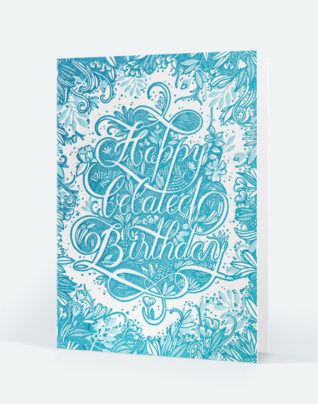 Edition Letterpress de Paris - carte double anniversaire illustrée par Audrey Leroy