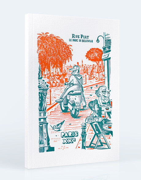 Edition Letterpress de Paris, carnet couverture letterpress - illustration Matthias Lehmann