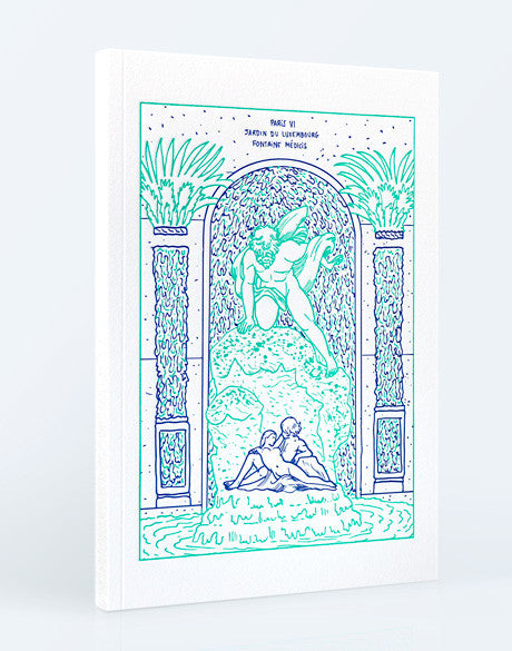 Carnet couverture letterpress , illustration Amandine Meyer, édition Lettepress de Paris