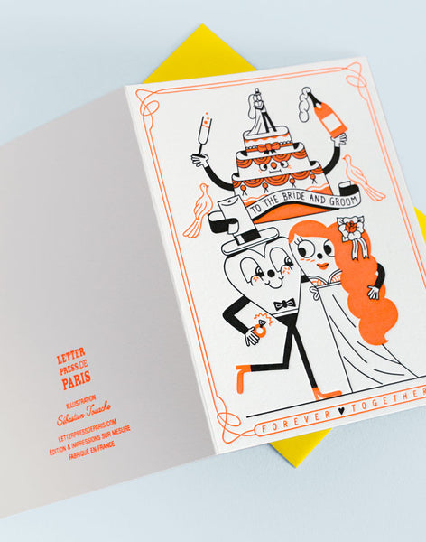Carte Letterpress de Paris, illustration Sébastien Touache