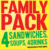Family Pack (4 Meals)