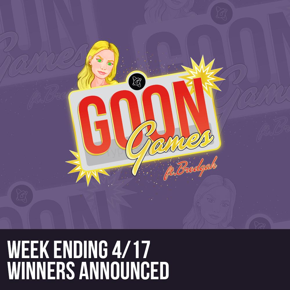 Winners Announced: GoonGames Trivia week 4/13-4/16