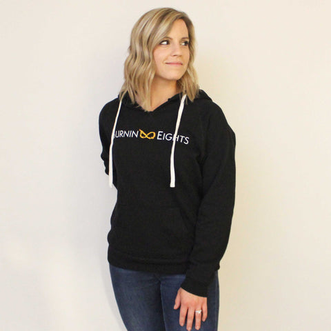 black burnin eights women's hoodie