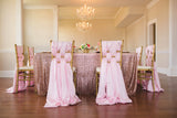 "Blush Pink Sequin 120"" Round Tablecloth Glitz Sequin"