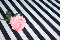 Black and White Striped Tablecloth 90x132 inch