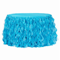 Curly Willow Table Skirt Aqua Blue 14ft 17ft  21ft