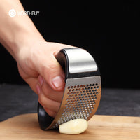 Garlic Press Stainless Steel Manual Garlic Grinder Grater Ginger Press Garlic Chopper