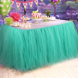 Tulle Tutu Table Skirt for Wedding Decoration Baby Shower Party Ballerina Costume