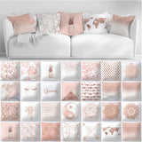 "18x18"" Decorative Pillow Case Rose Gold Blush Pink Colors"