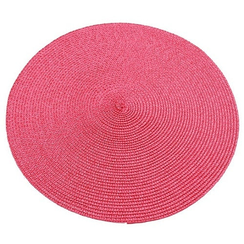 Round Weave Placemat Table Mats Elegant Style Dining