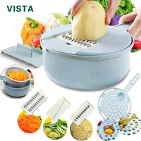 8 in 1 Mandoline Slicer, Vegetable Slicer, Potato Peeler, Carrot Grater with Strainer Vegetable Cutter