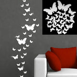 12pcs 3D Butterfly Mirror Wall Stickers Decal Wall Art Removable